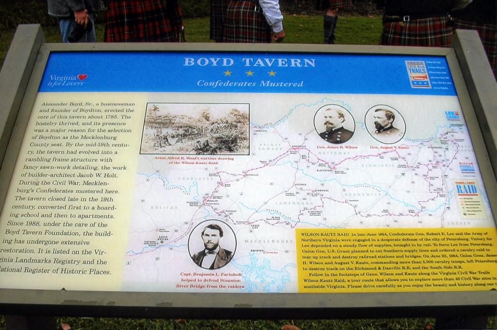 The Boyd Tavern Signage