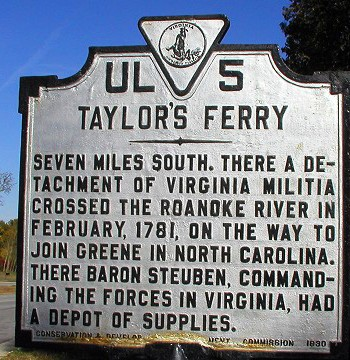 Taylor's Ferry Sign