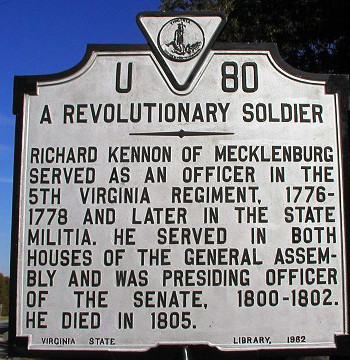 A Revolutionary Soldier Sign