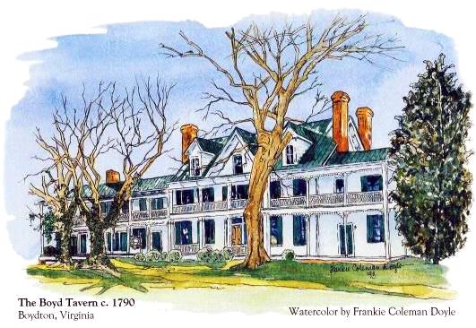 Boyd Tavern Watercolor
